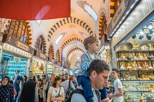Innenansicht Des Spice Oder Ägyptischen Basar In Istanbul Stockfoto und mehr Bilder von Alt