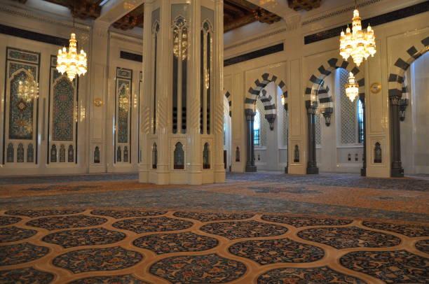 Innenansicht der Sultan Qaboos Moschee – Foto