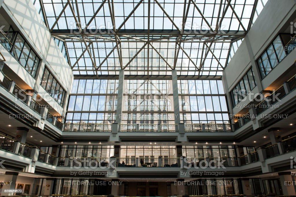 Interior view of the Atlanta City Hall stock photo