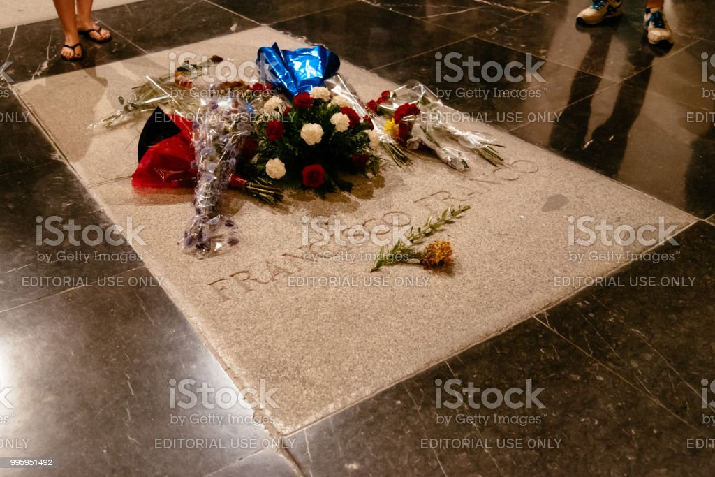 Interior view of the Basilica of The Valley of the Fallen in Spa stock photo