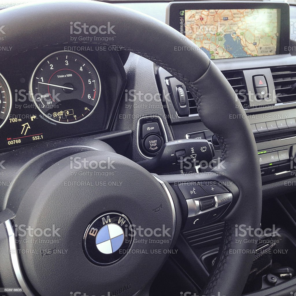 interior view of the new bmw 2 series royalty-free stock photo