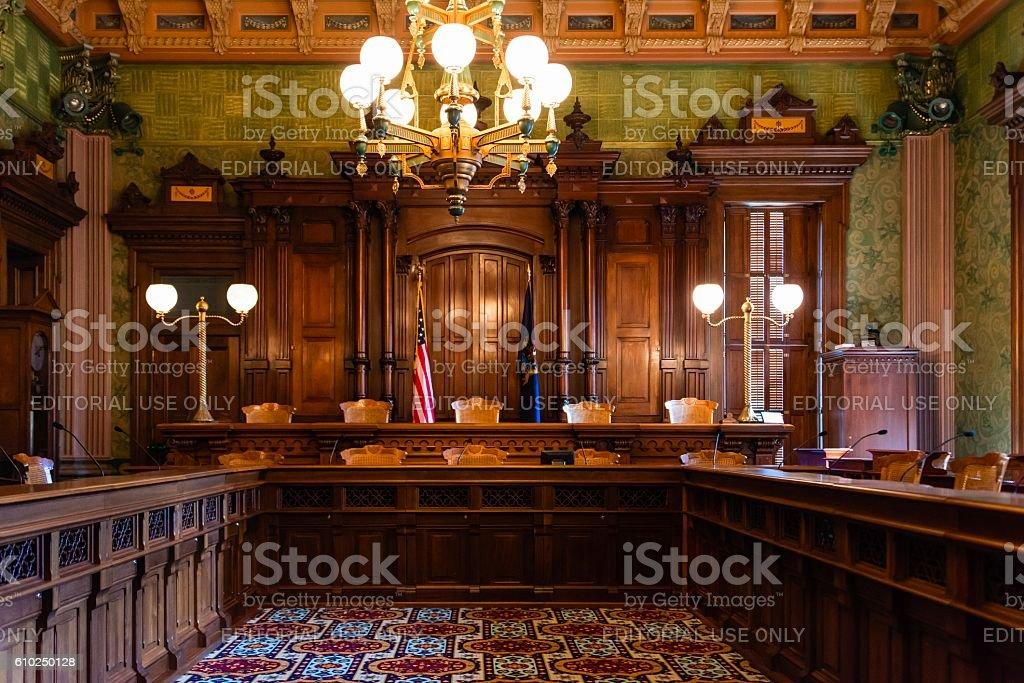 Interior View of the Ornate Supreme Court in Lansing, Michigan. – zdjęcie