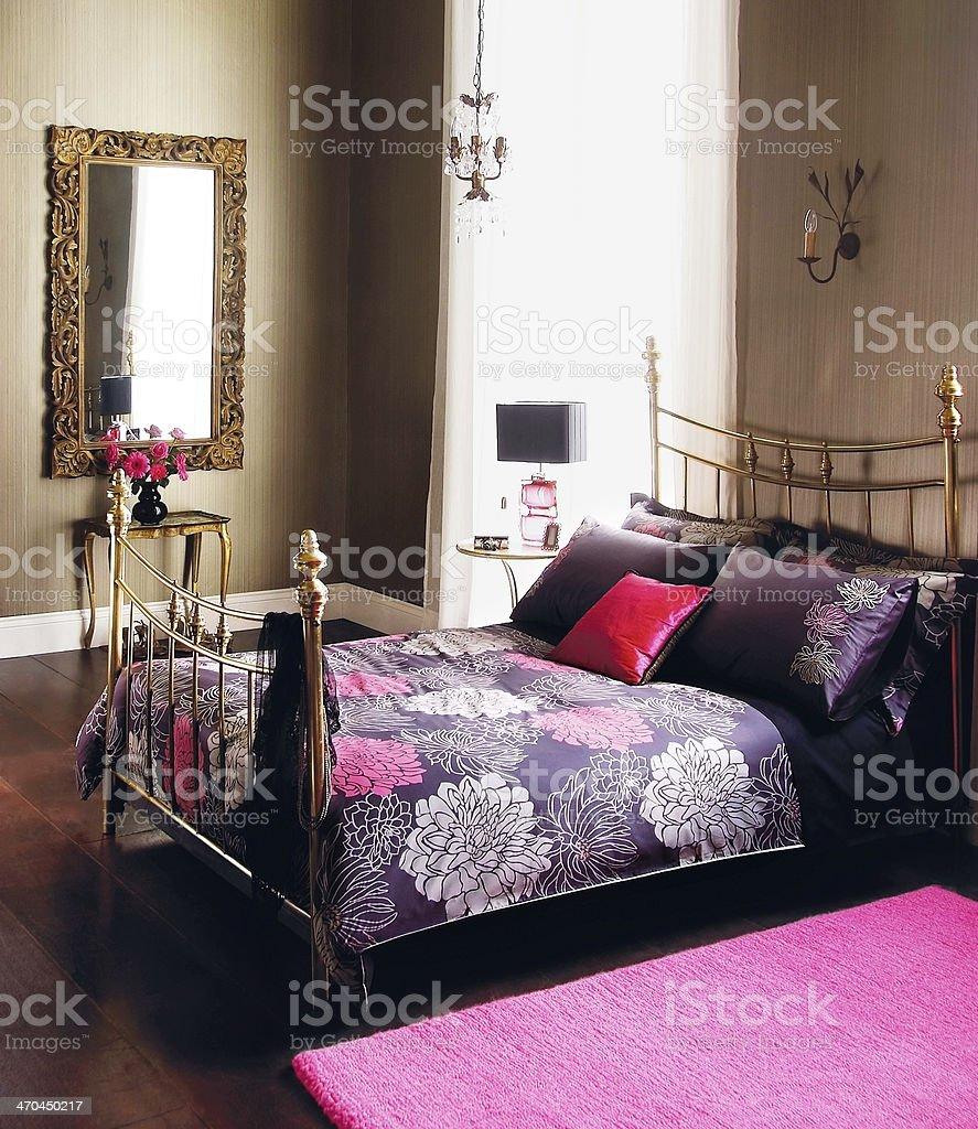 Interior Vintage Design Of Nice Girly Bedroom Stock Photo ...