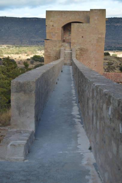 Interior Walls Of Mora De Rubielos Towers. – Foto