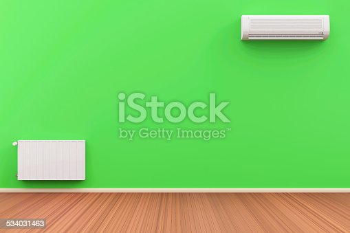 istock Interior with Air Conditioner and Battery on the wall 534031463