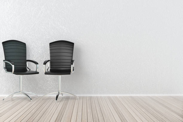 Interior with office chairs stock photo