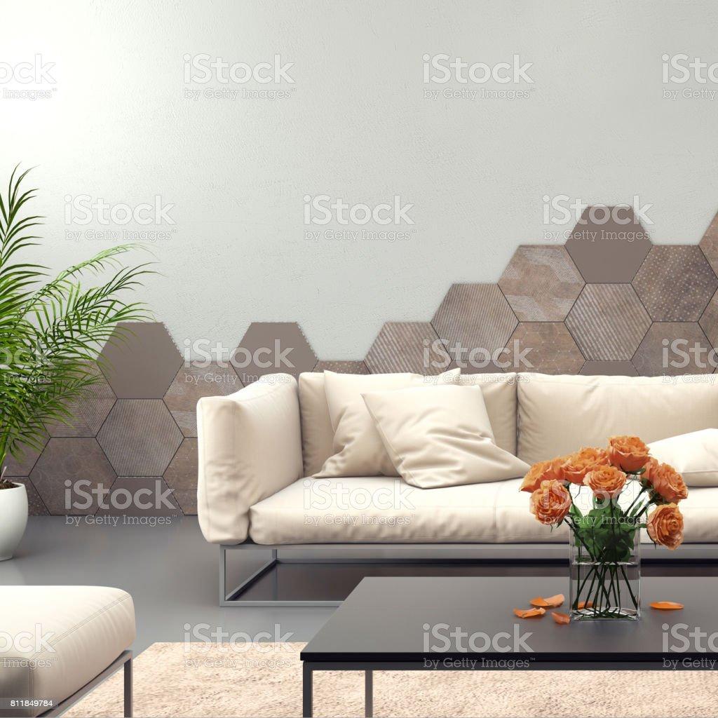 Cool Sofa Pastell Sammlung Von Innenraum Mit Lila Farbigen Mit Leere Wand