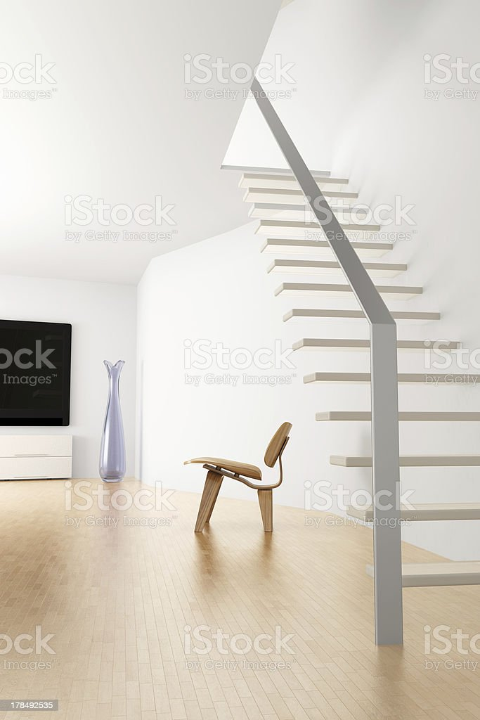 Interior with stair stock photo
