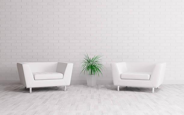 Interior com duas poltronas - foto de acervo