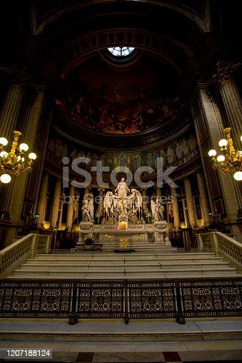 istock Interiors and architectural details of Eglise de la Madeleine 1207188124