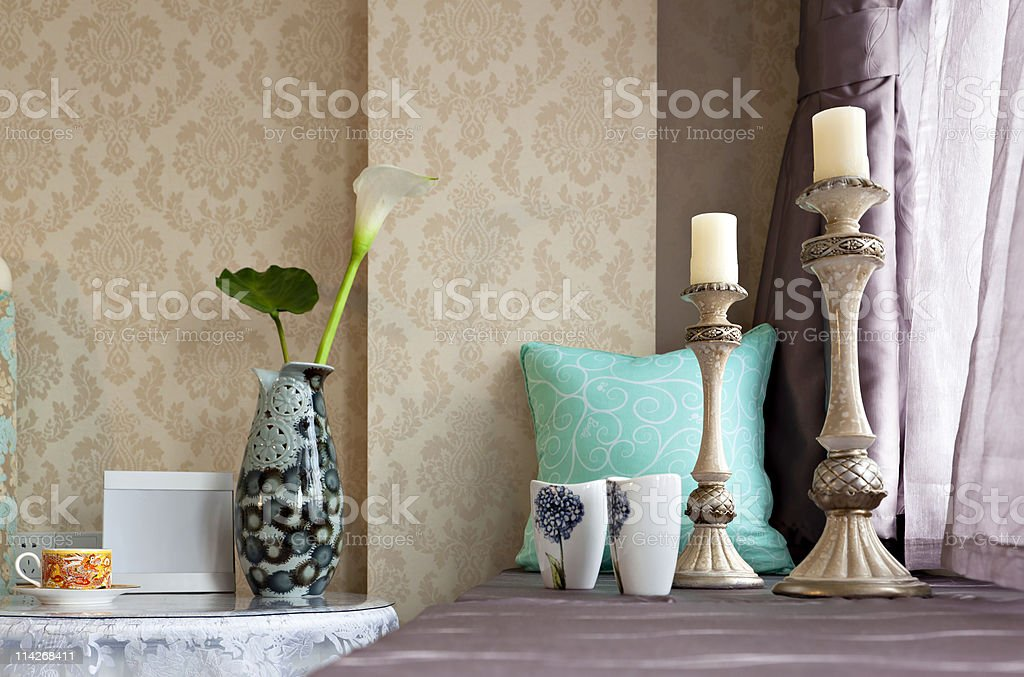 Interiors  decoration stock photo