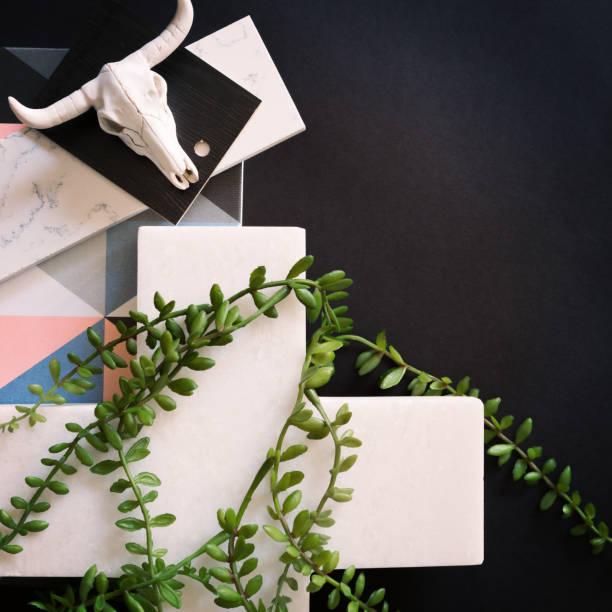 placa de humor interiores mock-se preto e branco e verde - mood board - fotografias e filmes do acervo