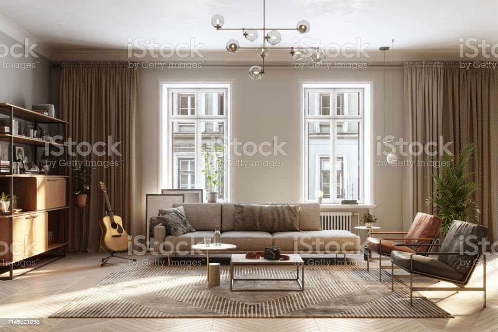 Interiors of a living room - Royalty-free Apartment Stock Photo