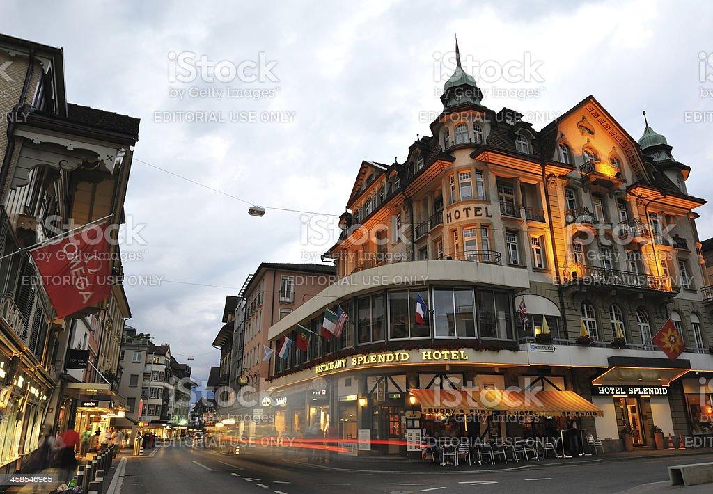 Interlaken at Dusk stock photo