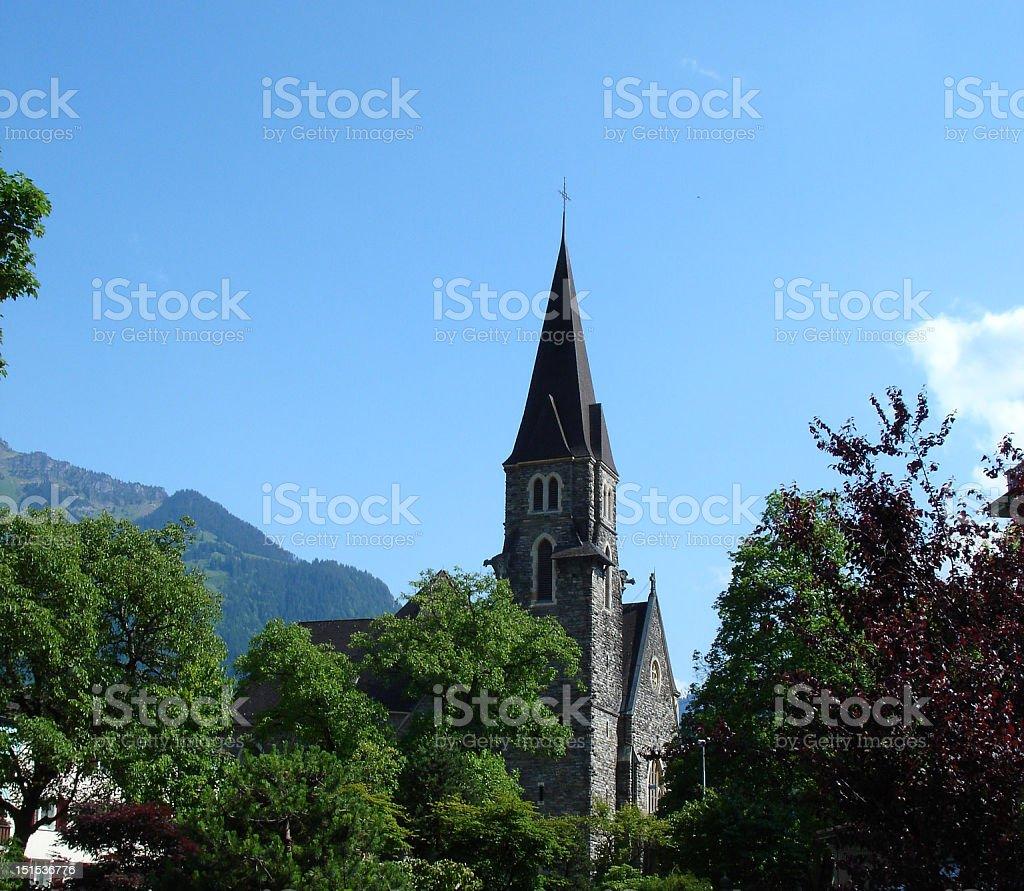 Interlaken Church royalty-free stock photo