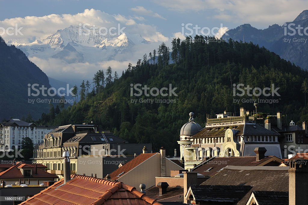 Interlaken in Switzerland stock photo