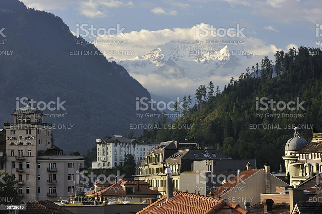 Interlaken in Switzerland royalty-free stock photo