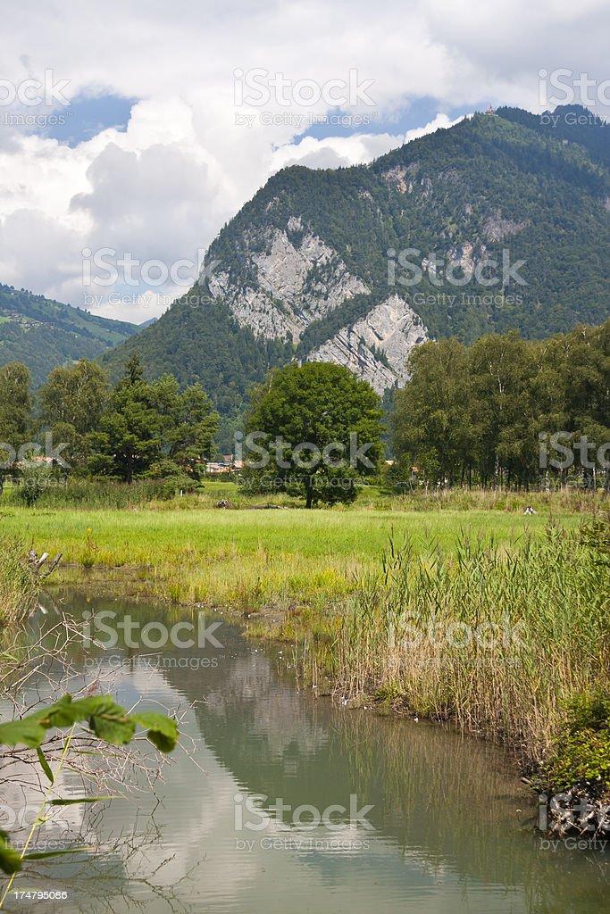 Interlaken Landscape, Swiss Alps royalty-free stock photo