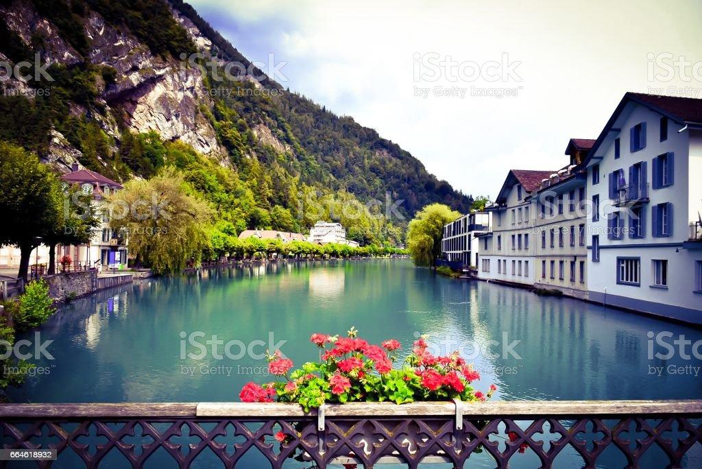 Interlaken stock photo