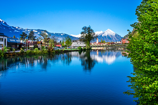 Interlaken Switzerland One Of The Most Beautiful Places To Visit Stock Photo - Download Image Now