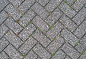 Interlocked outdoor pavement stones texture