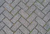 Interlocked outdoor pavement stones texture