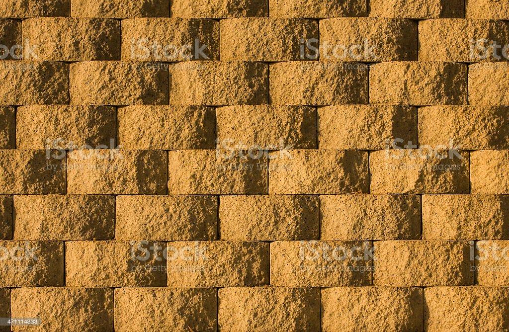 Interlocking Concrete Block Pattern, Background, Warm Tone, Irregular, Repeating-Pattern royalty-free stock photo