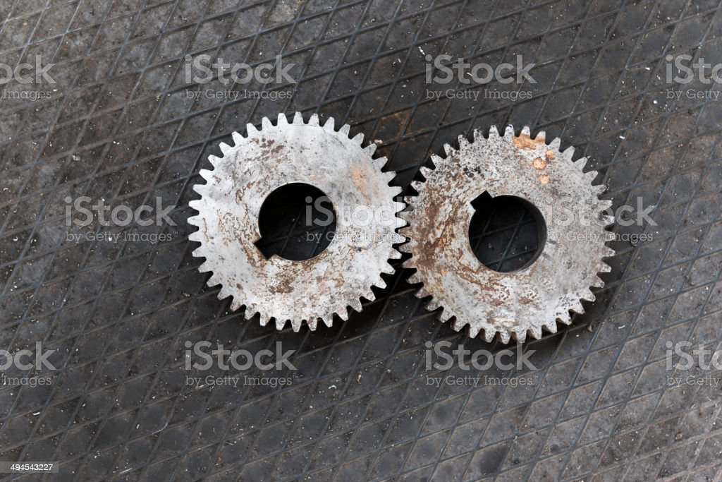 Interlocking gears royalty-free stock photo