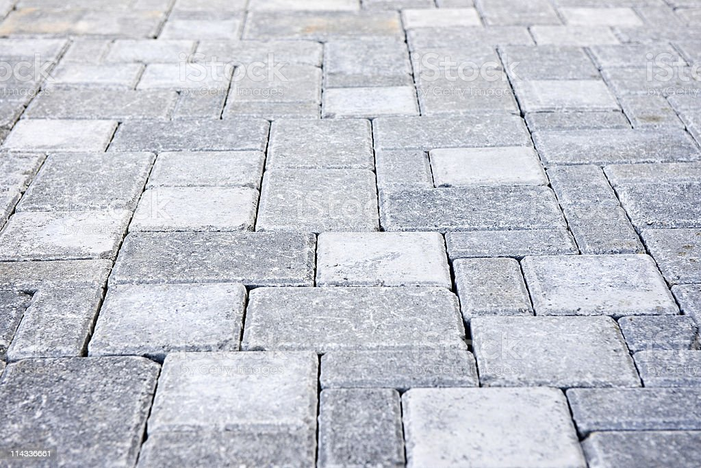 Interlocking stone driveway stock photo