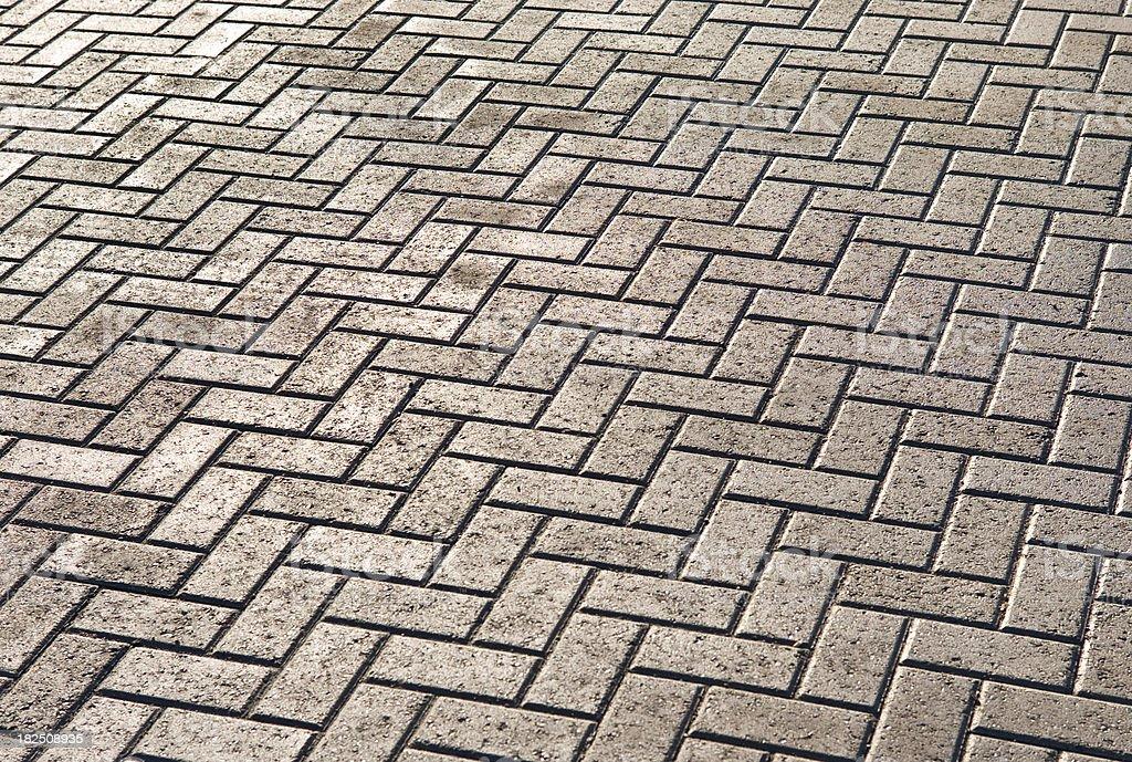 Interlocking Stone Walkway royalty-free stock photo