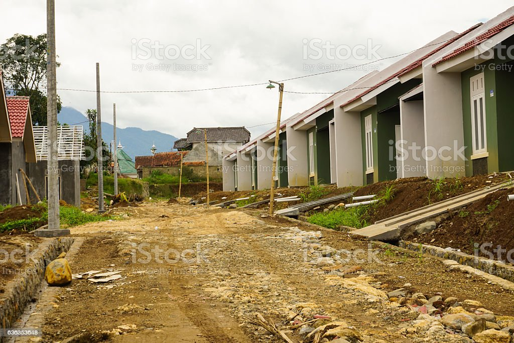 Intermediate housing project in Bogor photo taken in Indonesia stock photo