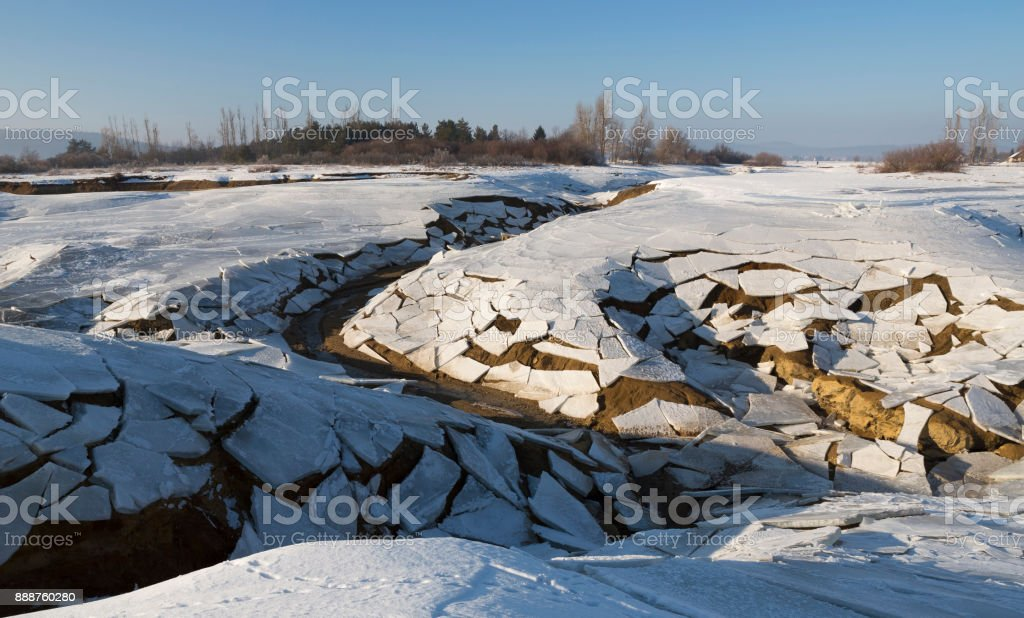 Intermittent Lake Cerknica stock photo