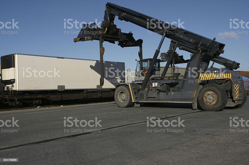 Intermodaler Transport Lizenzfreies stock-foto
