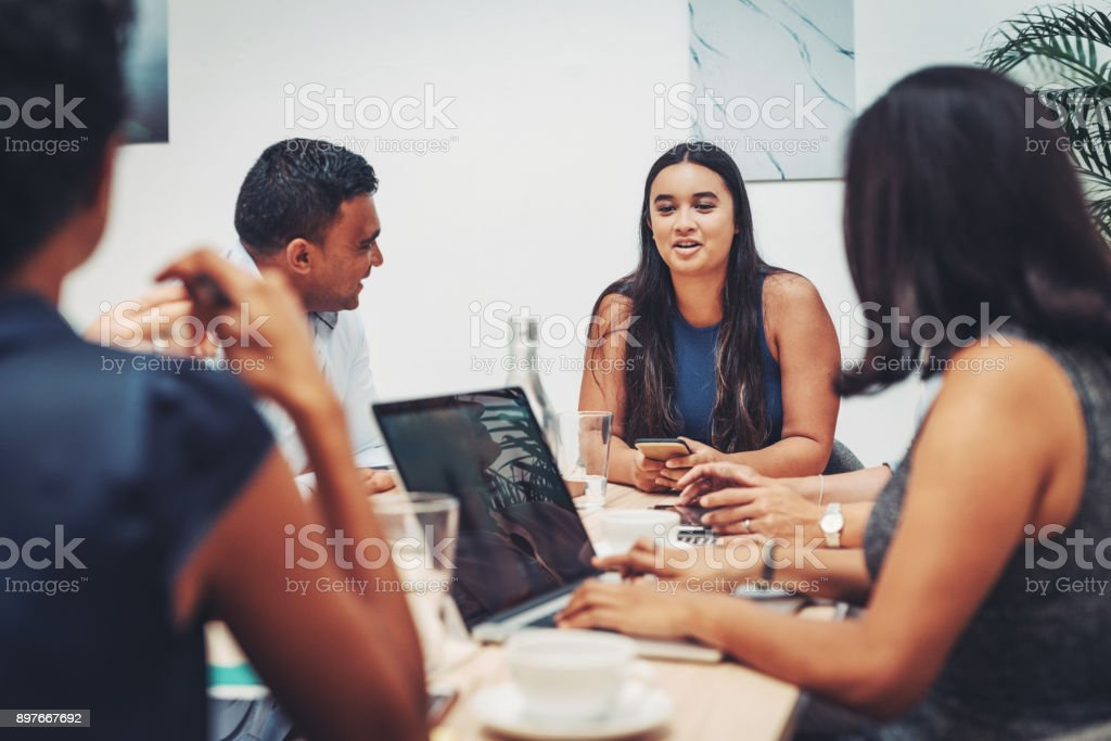 Intern in our company will become one of our best employees stock photo