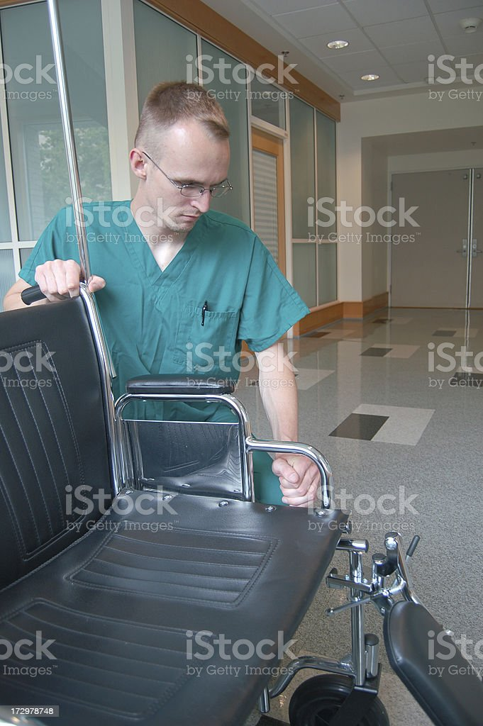 Intern with Wheelchair royalty-free stock photo