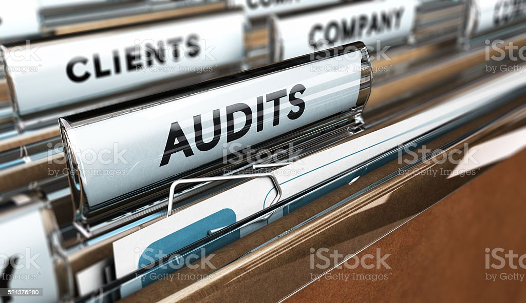 Internal Audit, Company Management stock photo