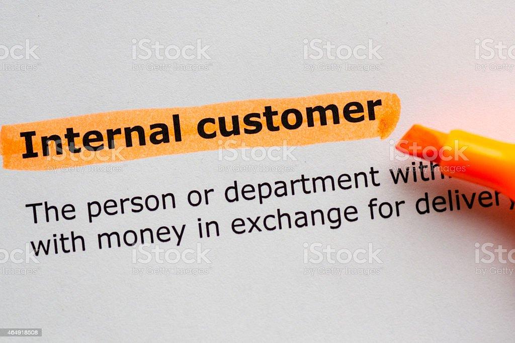 internal customer stock photo