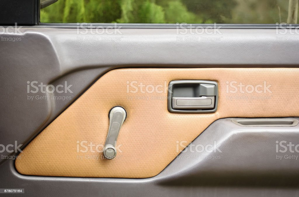 Internal finishing of door panel. stock photo