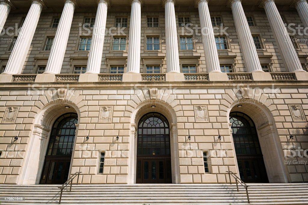 Internal Revenue Service (IRS) Building in Washington, DC stock photo