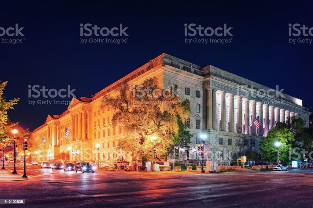 Internal Revenue Service Building in Washington DC stock photo