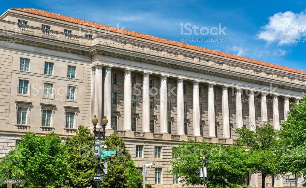 Internal Revenue Service Building in Washington DC, USA stock photo