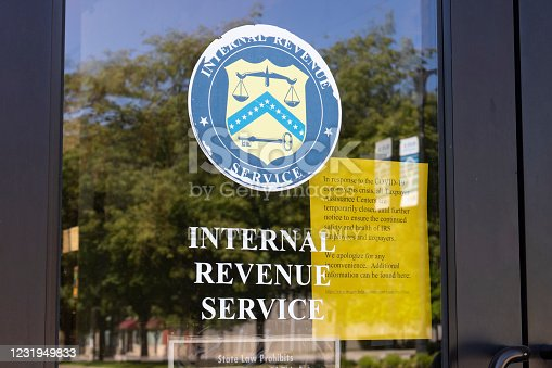 Terre Haute - Circa May 2020: Internal Revenue Service office. The IRS has closed many Taxpayer Assistance Centers due to COVID-19.