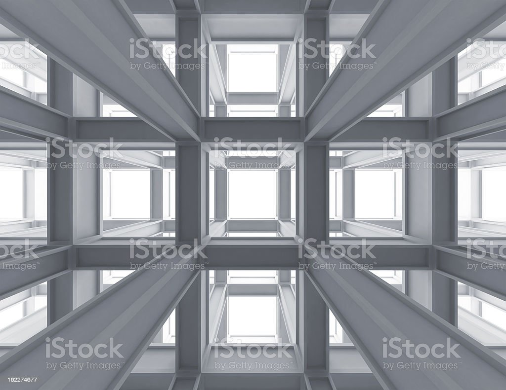 Internal space of a modern braced construction royalty-free stock photo