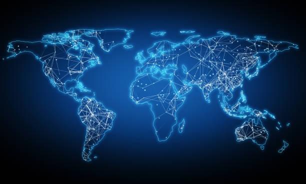 internation ai und innovationskonzept - internationale geschäftswelt stock-fotos und bilder
