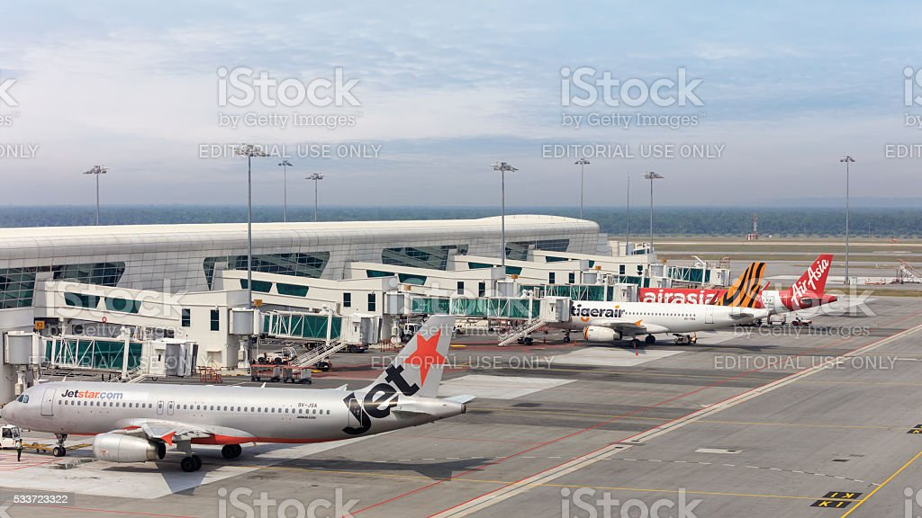 International airport of Kuala Lumour stock photo