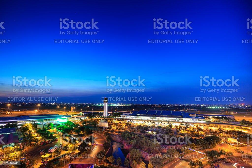 international airport of Tan Son Nhat International Airport stock photo