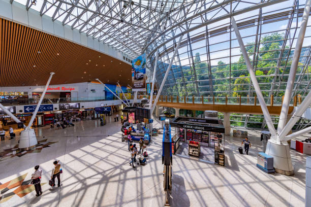 KLIA International airport This is the interior architecture of KLIA international airport on July 25, 2018 in Kuala Lumpur kuala lumpur airport stock pictures, royalty-free photos & images