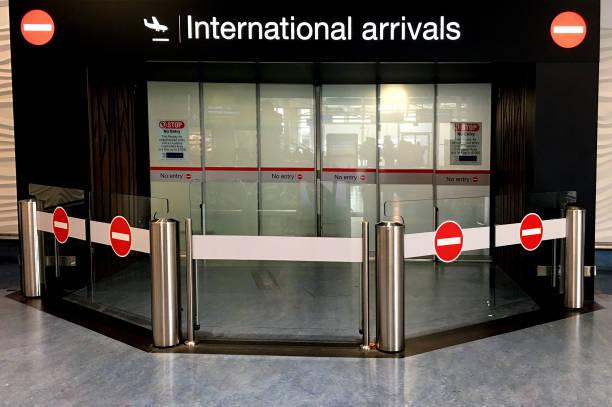 International arrivals gate at Auckland International Airport stock photo