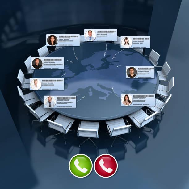 International board meeting stock photo