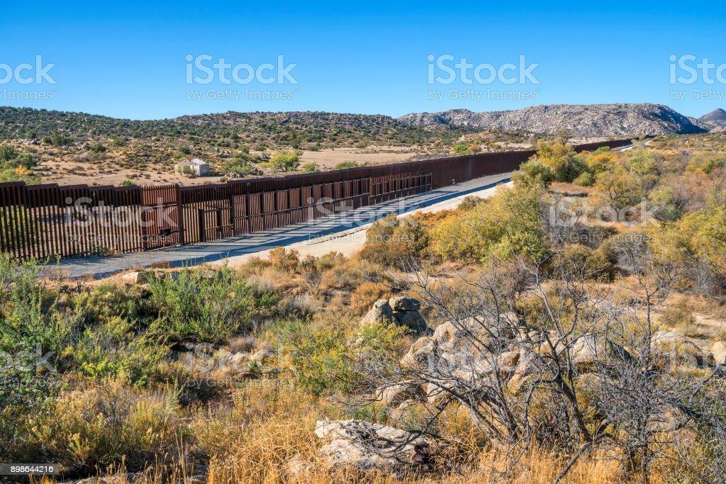 United States - Mexico border fence near Jacumba, California.